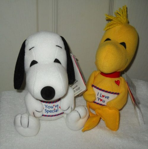 Woodstock and Snoopy Valentine's Day Plush Toys