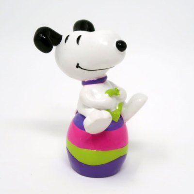 Snoopy on bouncy Easter Egg PVC Figurine