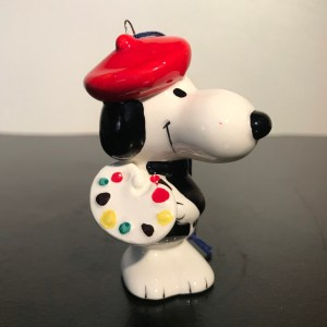 French Snoopy Artist Ornament