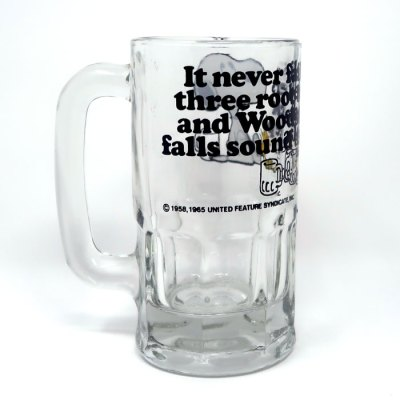 Snoopy and Woodstock Root Beer Glass Mug - Back