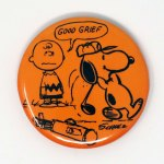 Golfing Snoopy Button