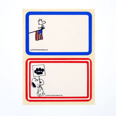 Snoopy Sign and Woodstock Flag Name Tags