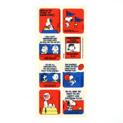 Peanuts Bi-centennial Stickers