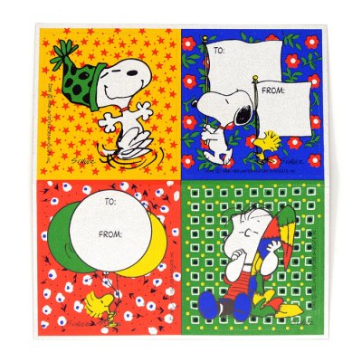 Snoopy, Woodstock and Linus Stickers