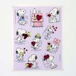 Woodstock & Snoopy Valentine's Day Stickers