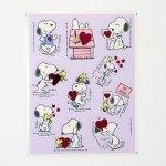 Woodstock & Snoopy Valentine's Day Stickers