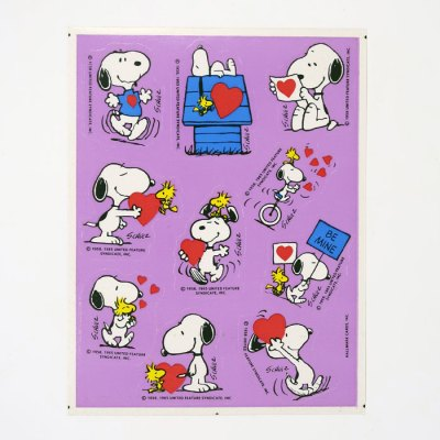 Snoopy & Woodstock Valentine's Day Stickers