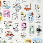 Snoopy & Woodstock Calendar Activity Stickers