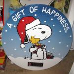 Snoopy hugging Woodstock 'A gift of happiness' Kohl's Christmas Display