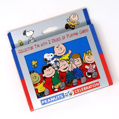 Peanuts Collector Tin Double Playing Card Set