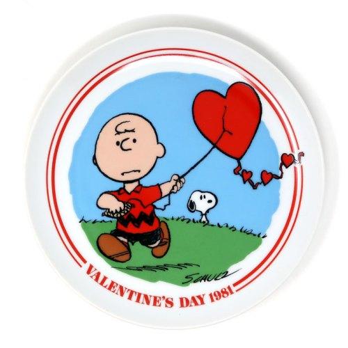Charlie Brown Heart Kite 1981 Valentine's Day Plate