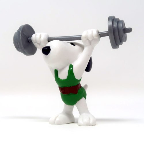 Weightlifter Snoopy PVC Figurine