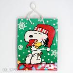 Snoopy hugging Woodstock Christmas Gift Bag