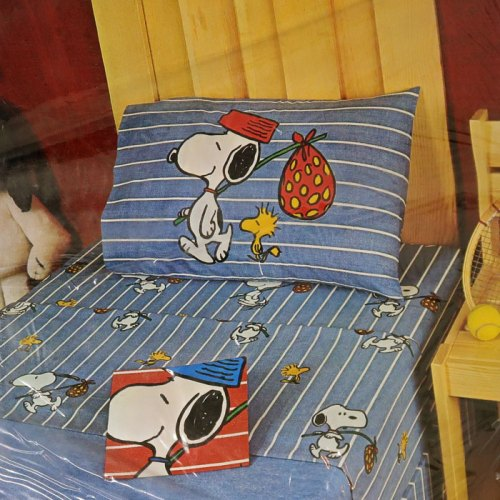 Denim Snoopy Pillowcase
