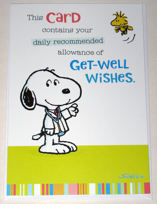 Peanuts Get Well Cards