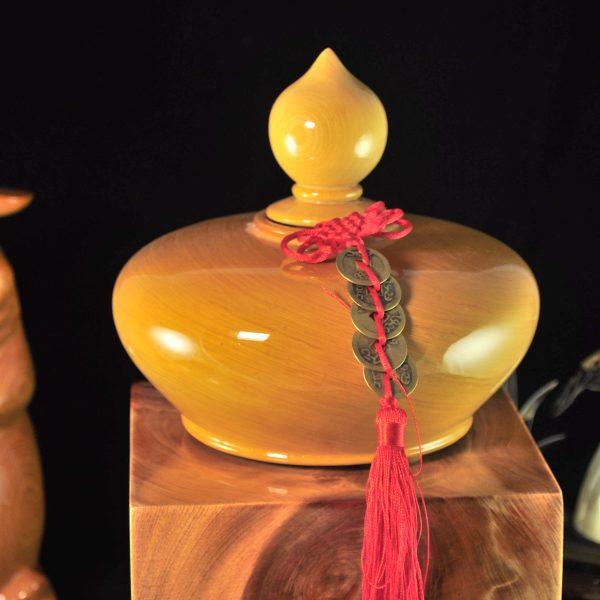 20公分檸檬香美國檜木聚寶盆