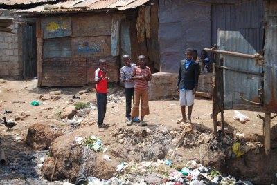 Children in the slums, 2012. (c) Colleen Briggs