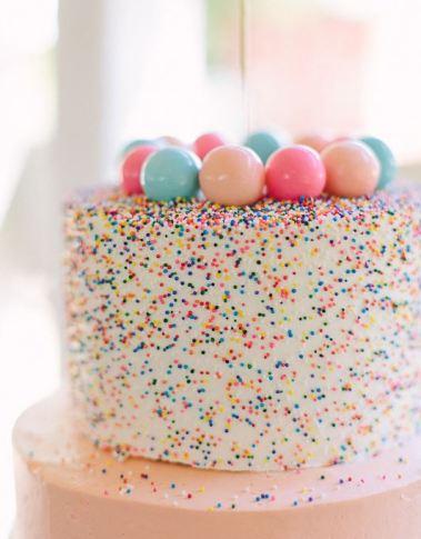 confeitt sprinkle birthday cake