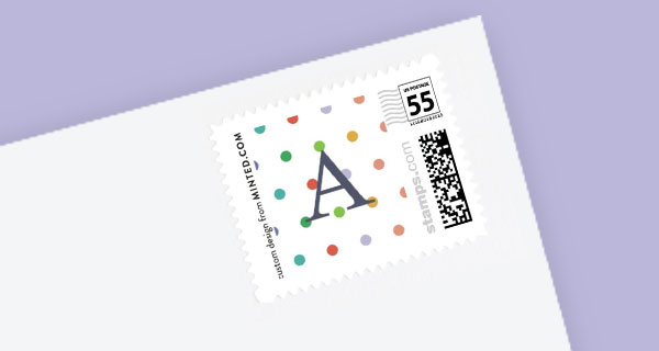 birthday party postage stamps