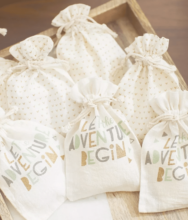 Baby shower favors - let the adventure begin