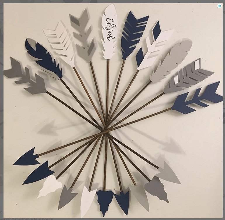 Decorative arrows for baby shower theme