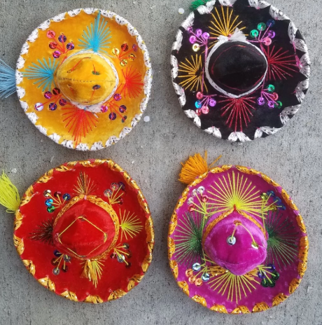 mini sombreros for fiesta themed party