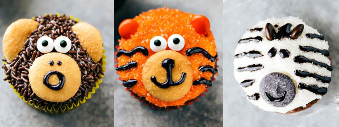 cutest jungle animal cupcakes