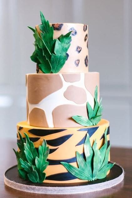 safari theme 3 tier cake