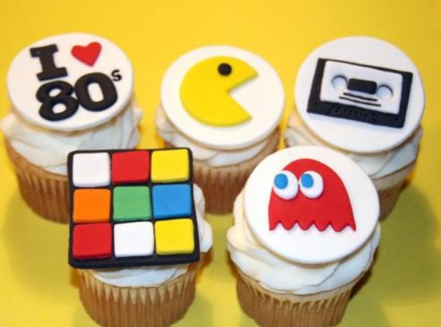 80s themed cupcake toppers
