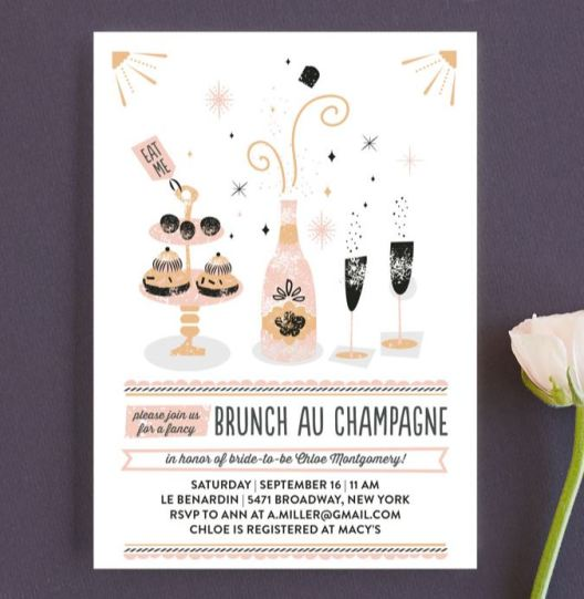brunch au champagne - fancy brunch invitation