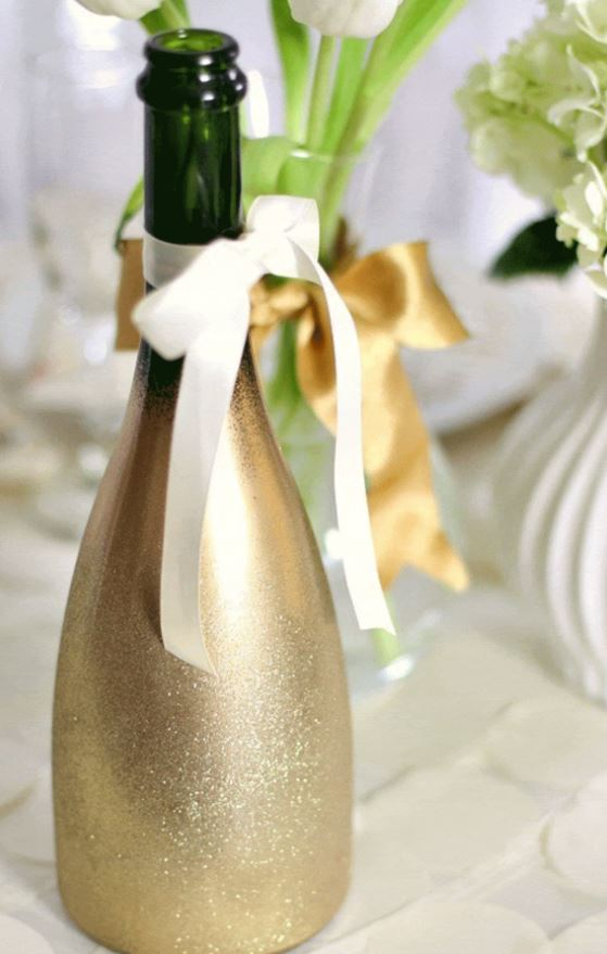 champagne display gold shimmer