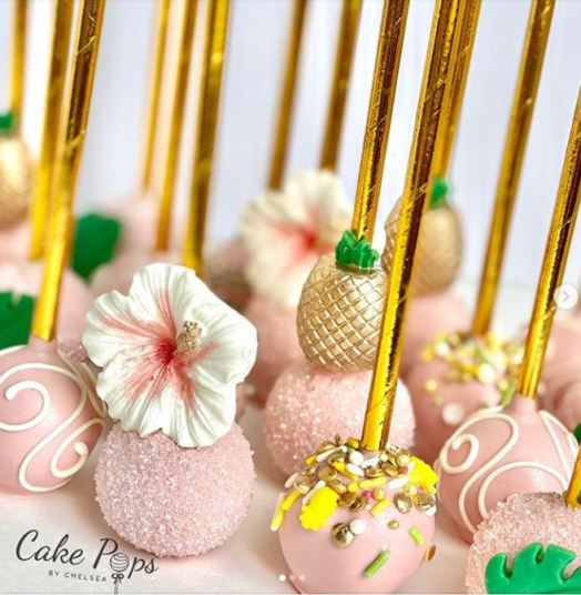 cake pops with tropical flair