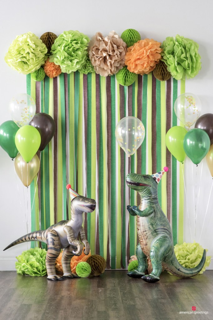 dinosaur balloons for birthday party