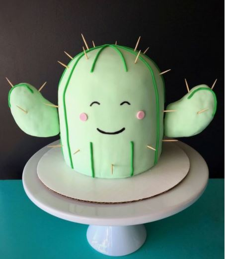 cactus cake for baby shower