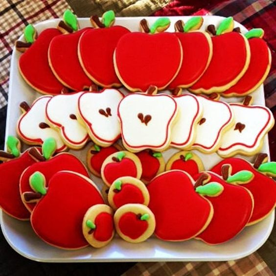 apple themed cookies