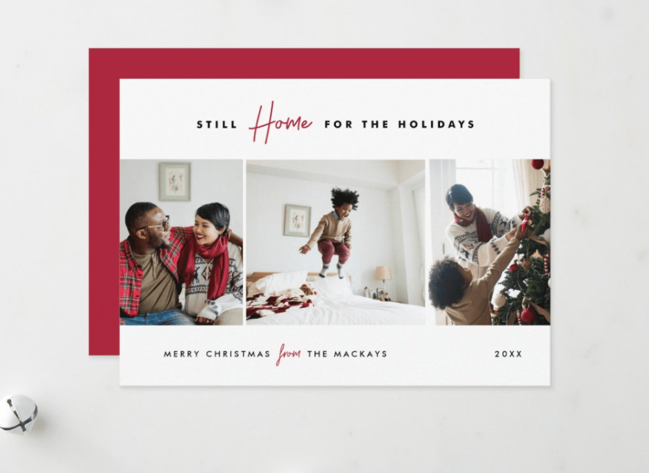 still home for the holidays greeting card