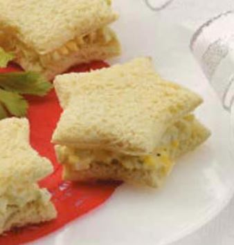 egg salad star sandwich