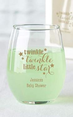 twinkle star baby shower glasses