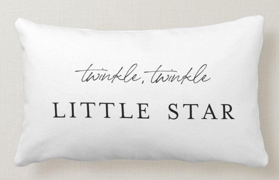 modern twinkle star pillow