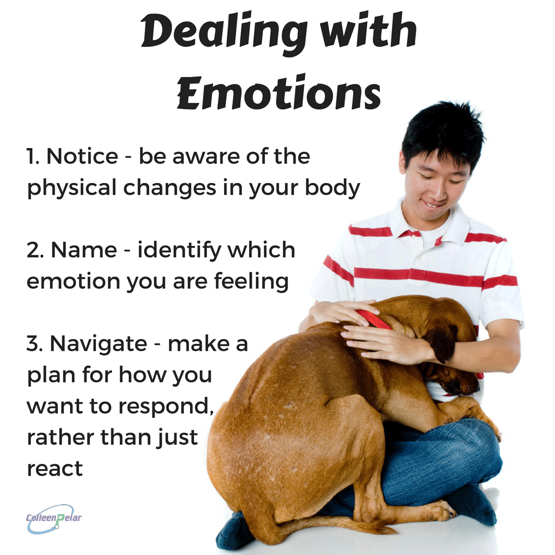 The 3 N's of managing your emotions: notice, name, and navigate. Colleen Pelar on the UNLEASHED (at work & home) podcast. Learn how emotions help us and how they can trip us up. A fascinating look at behavior.