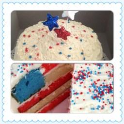 Hidden Flag cake!