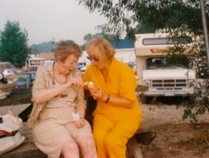 June Rose and Colleen Thibaudeau, Port Stanley, Ontario (Summer 1990)