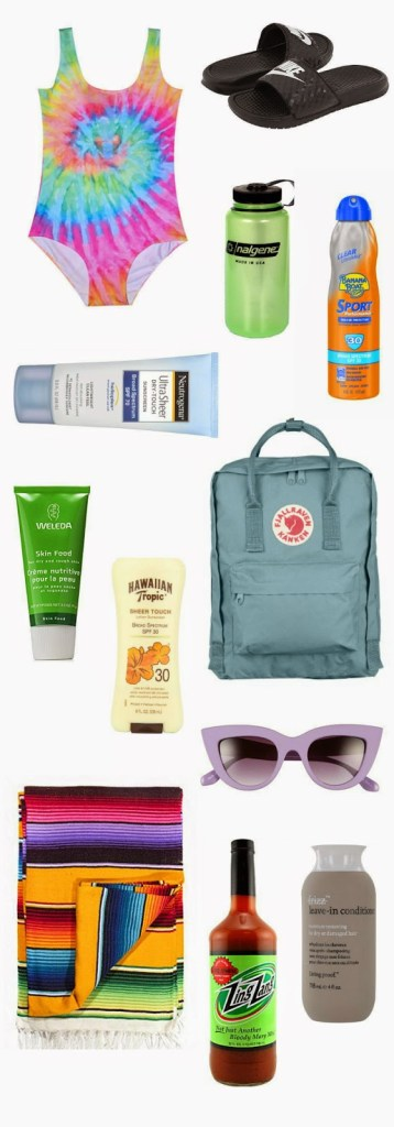 beach vacation essential packing list