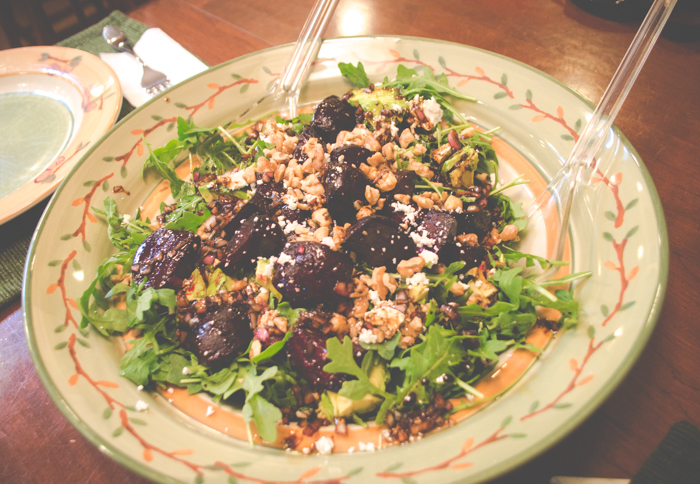 beet avocado and goat cheese salad