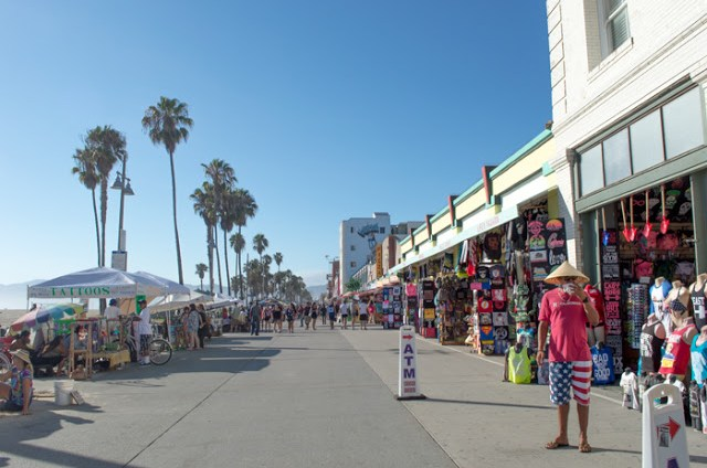 Venice Beach Boardwalk in Los Angeles, California