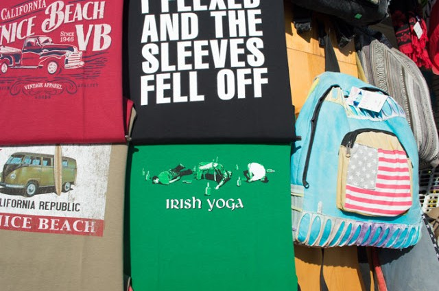 Souvenir Tees at the Venice Beach Boardwalk in Los Angeles, California