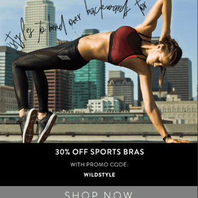 Sports Bras Email Feature