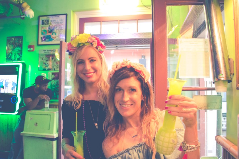 Bourbon Street New Orleans Tropical Isle Girs with Flower Crowns