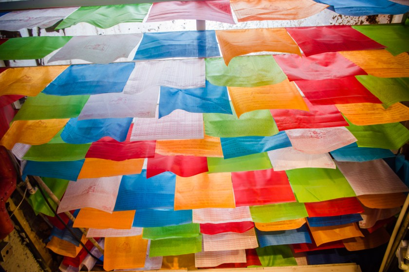 Prayer flags in the French Concession.