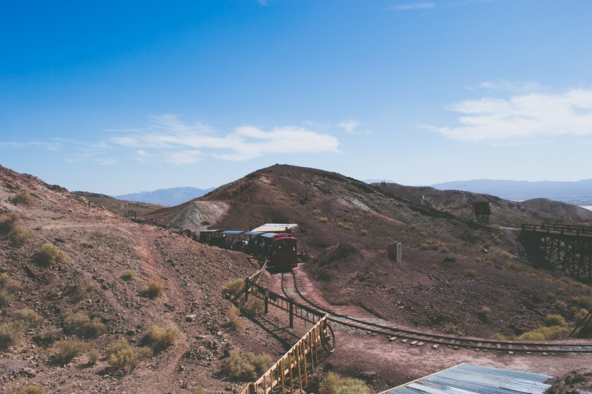Riding the train at Calico Ghost Town | ColleenWelsch.com